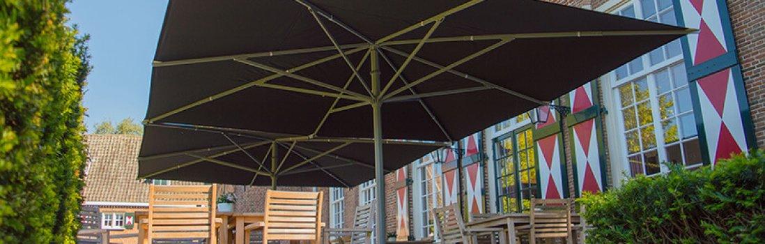 Wie wählt man einen richtigen Gastroschirm für eine Terrasse?